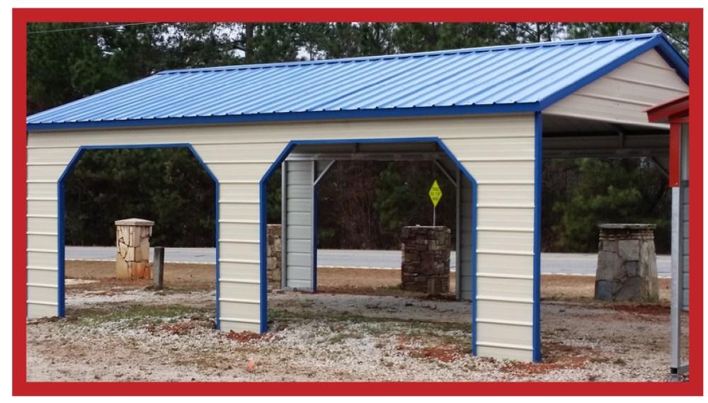 Vertical Metal Pavilion 20 x 21 x 8