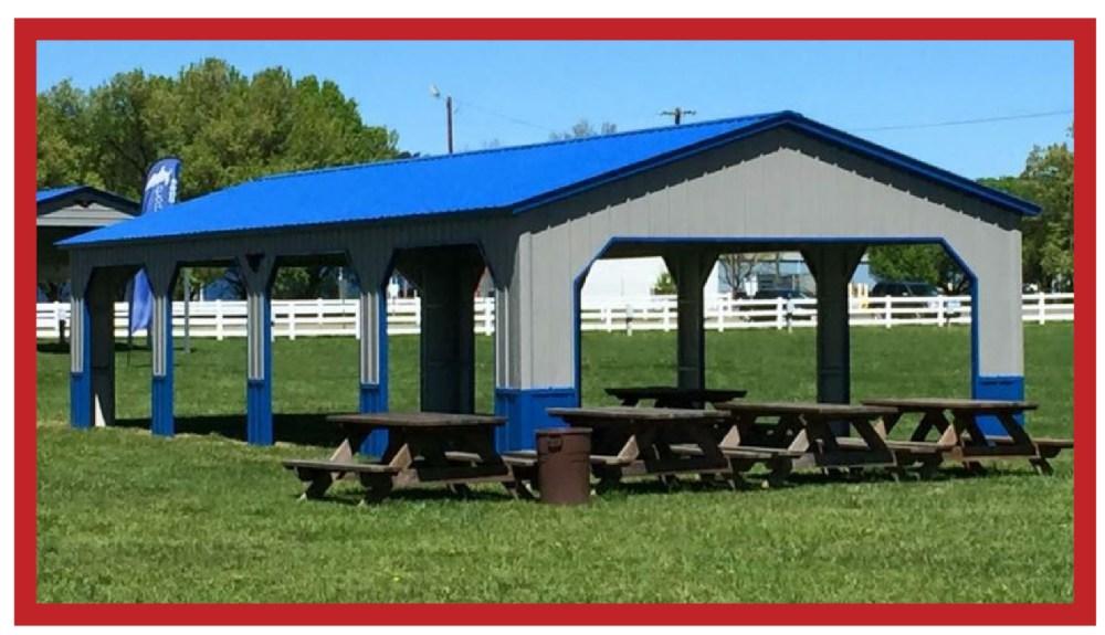 All-Vertical Metal Pavilion 24 x 41 x 8