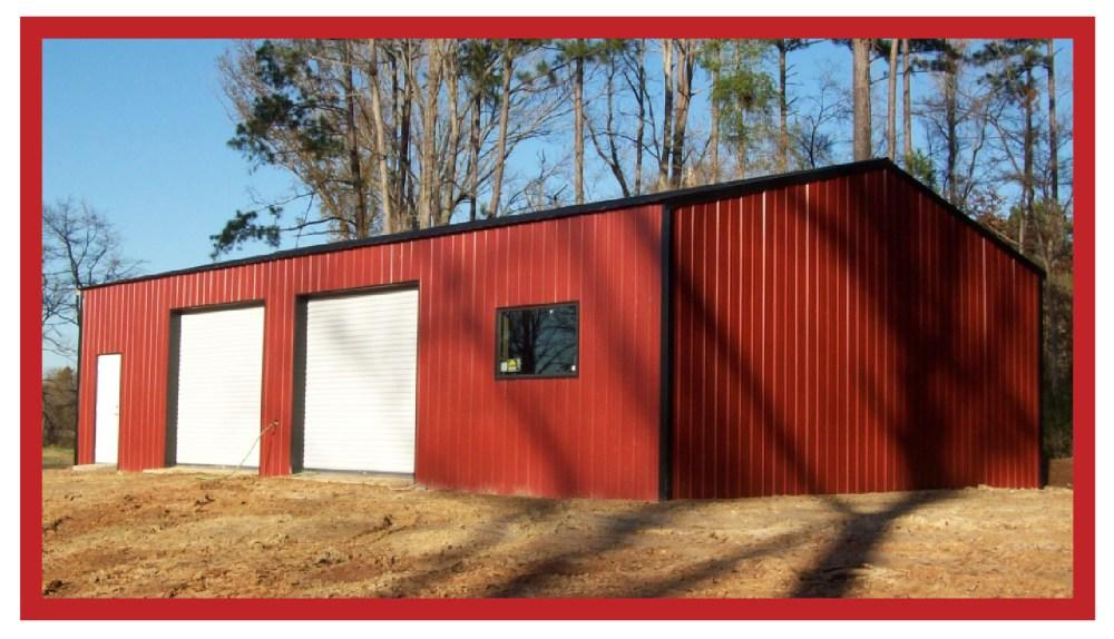 Metal Commercial Enclosed Shop 30 x 40 x 12