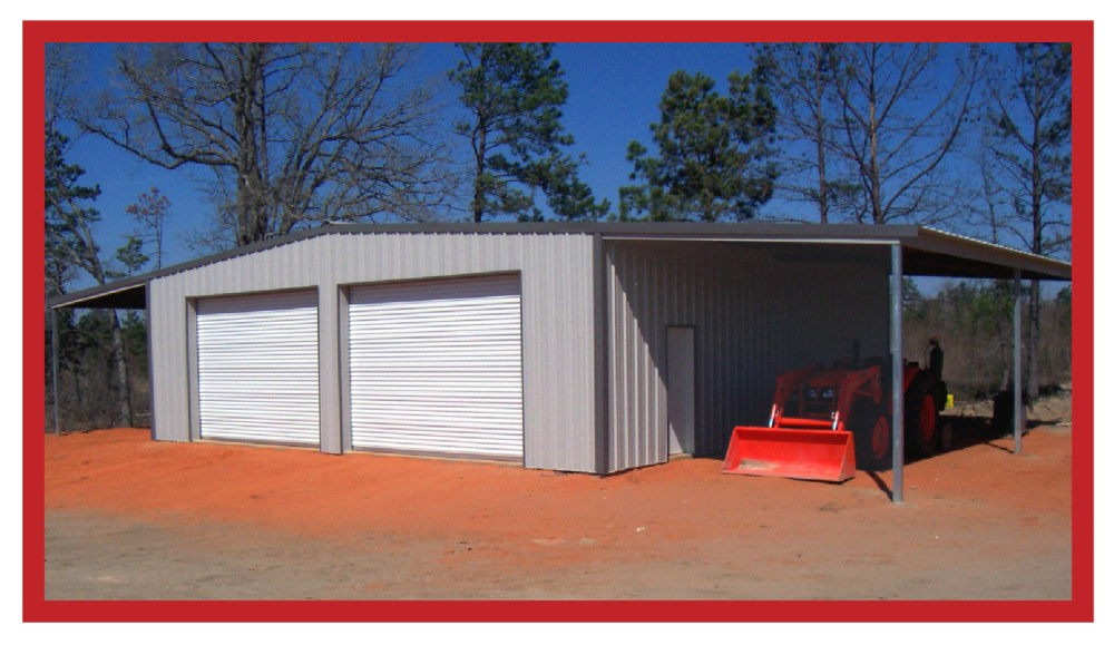 Metal Commercial Grade Shop with Leans 30 x 40 x 12