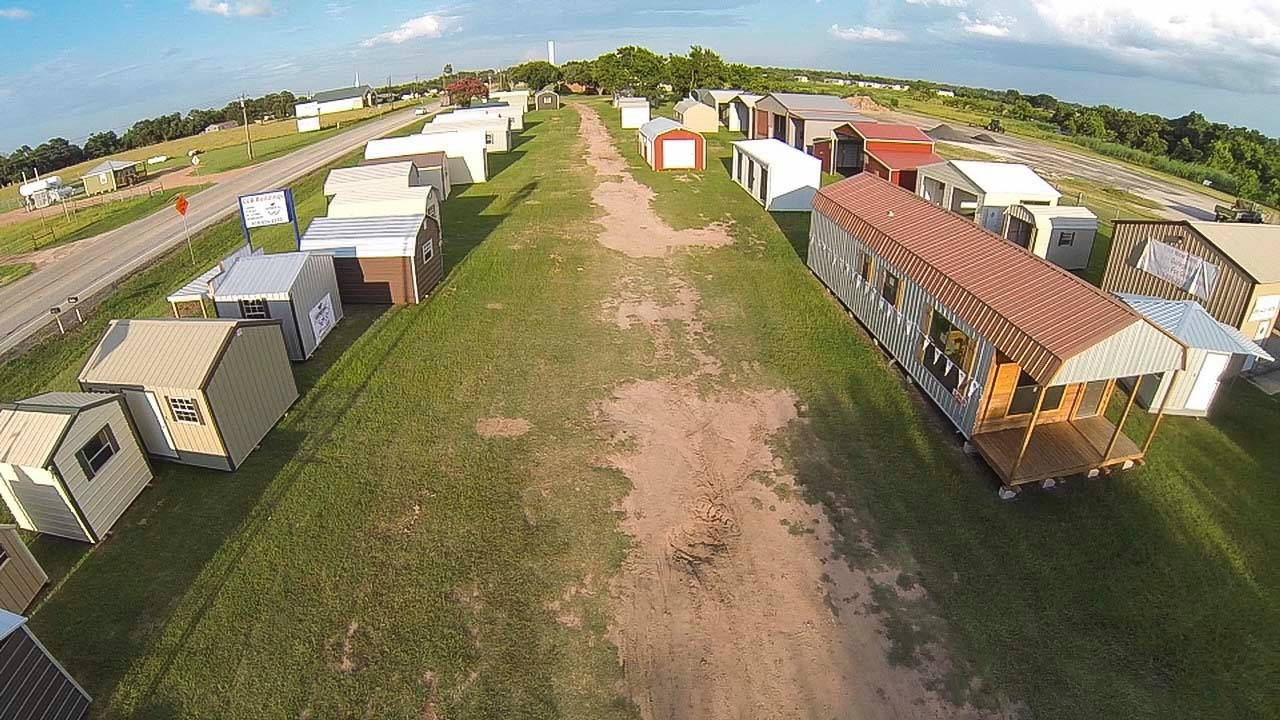 CCR Buildings lot with metal and portable buildings for sale in Waller, Texas