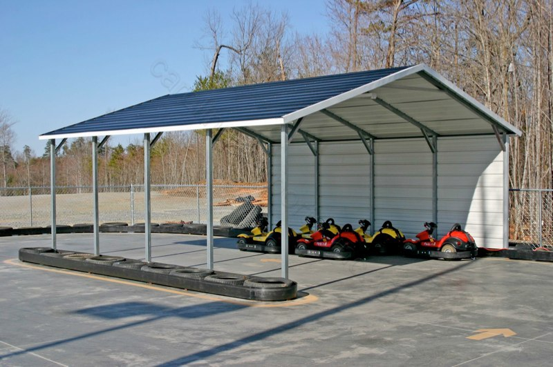 Boxed Eve 1-Sided Metal Carport 18 x 21 x 7