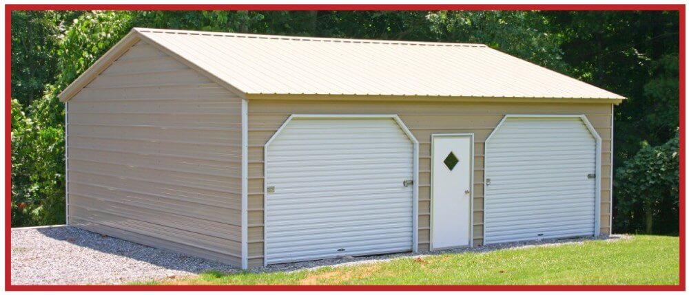 Building Solutions to Build on Site - Metal 2-Door Garage Workshop