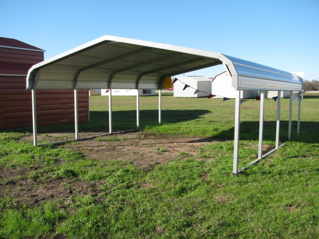 Regular Metal Carport 18 x 21 x 6