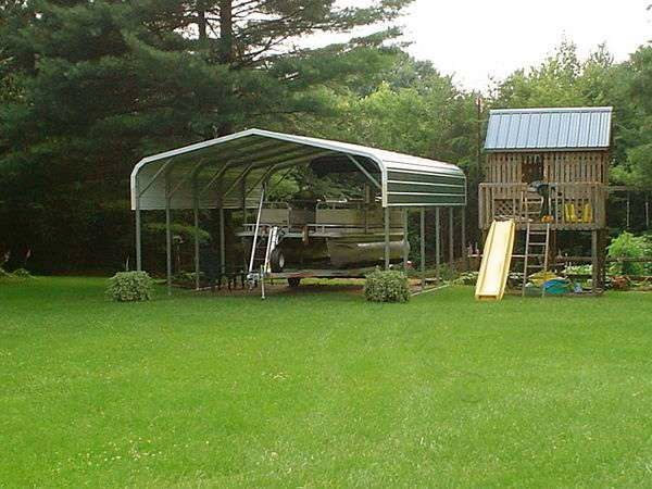 Regular Metal Carport with Panels 18 x 26 x 7