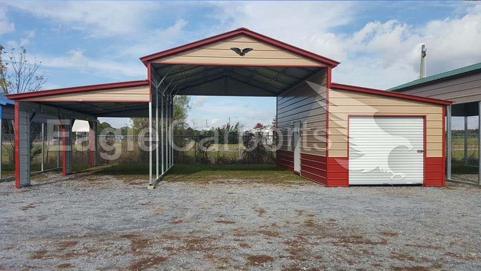 Metal Vertical Enclosed Horse Barn  32 x 31 x 12 x 8