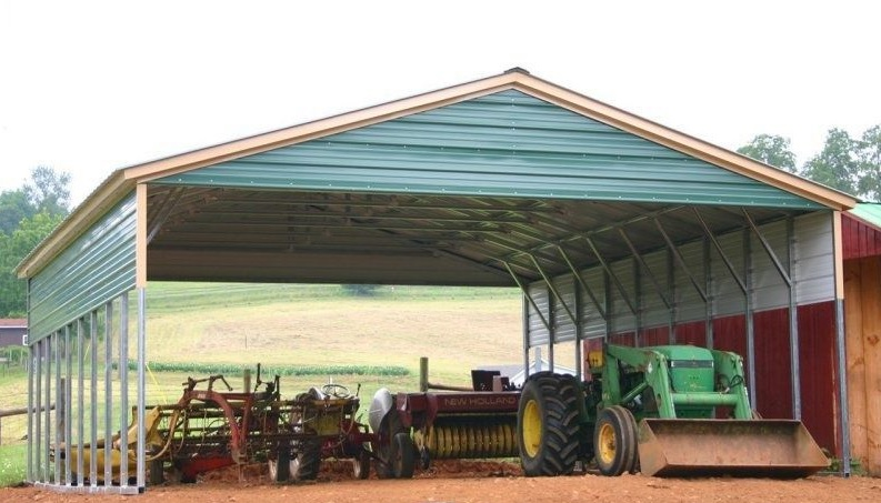 Vertical Metal Equipment Cover with Panels & Gable Ends 30 x 41 x 12