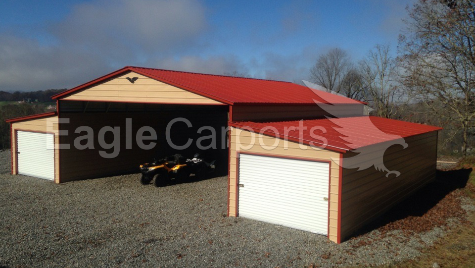 Metal Vertical Horse Barn 50 x 36 x 14 x 10