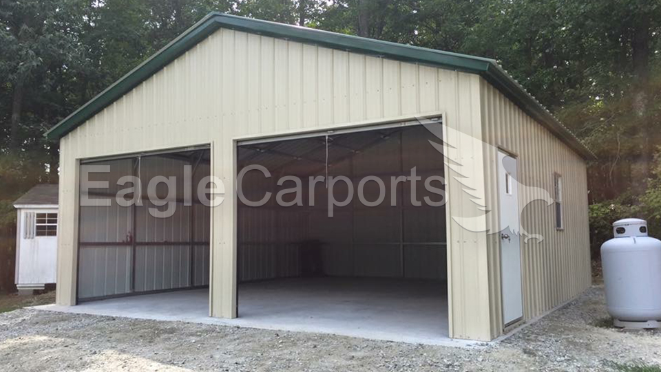 All-Vertical Metal Garage Workshop 24 x 26 x 11