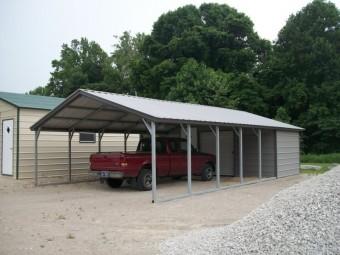Vertical Metal Carport Combo Unit 20 x 36 x 8