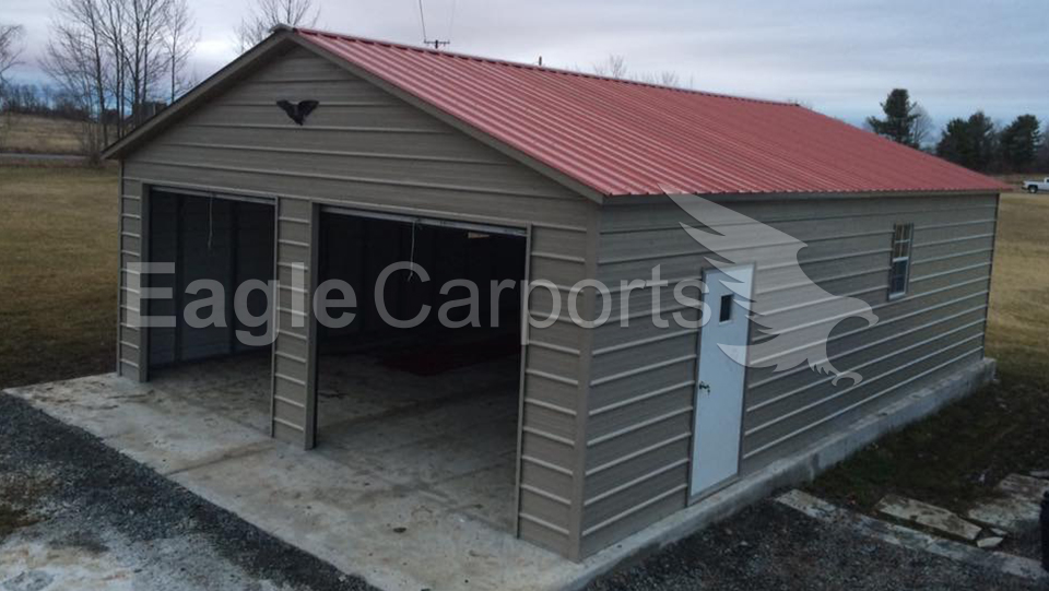 Vertical Metal Garage Workshop 24 x 36 x 9