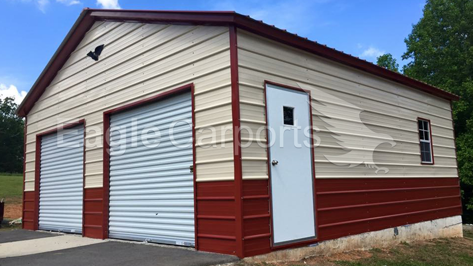 Vertical Metal Garage Workshop 24 x 21 x 10