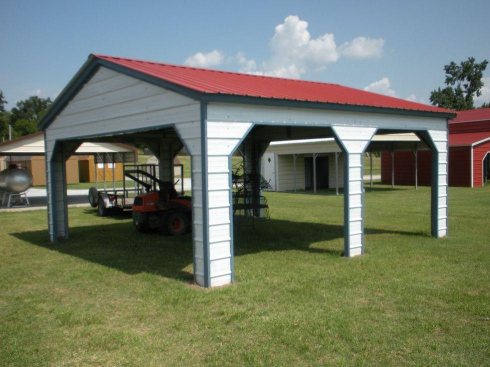 Vertical Metal Pavilion 12 x 21 x 8