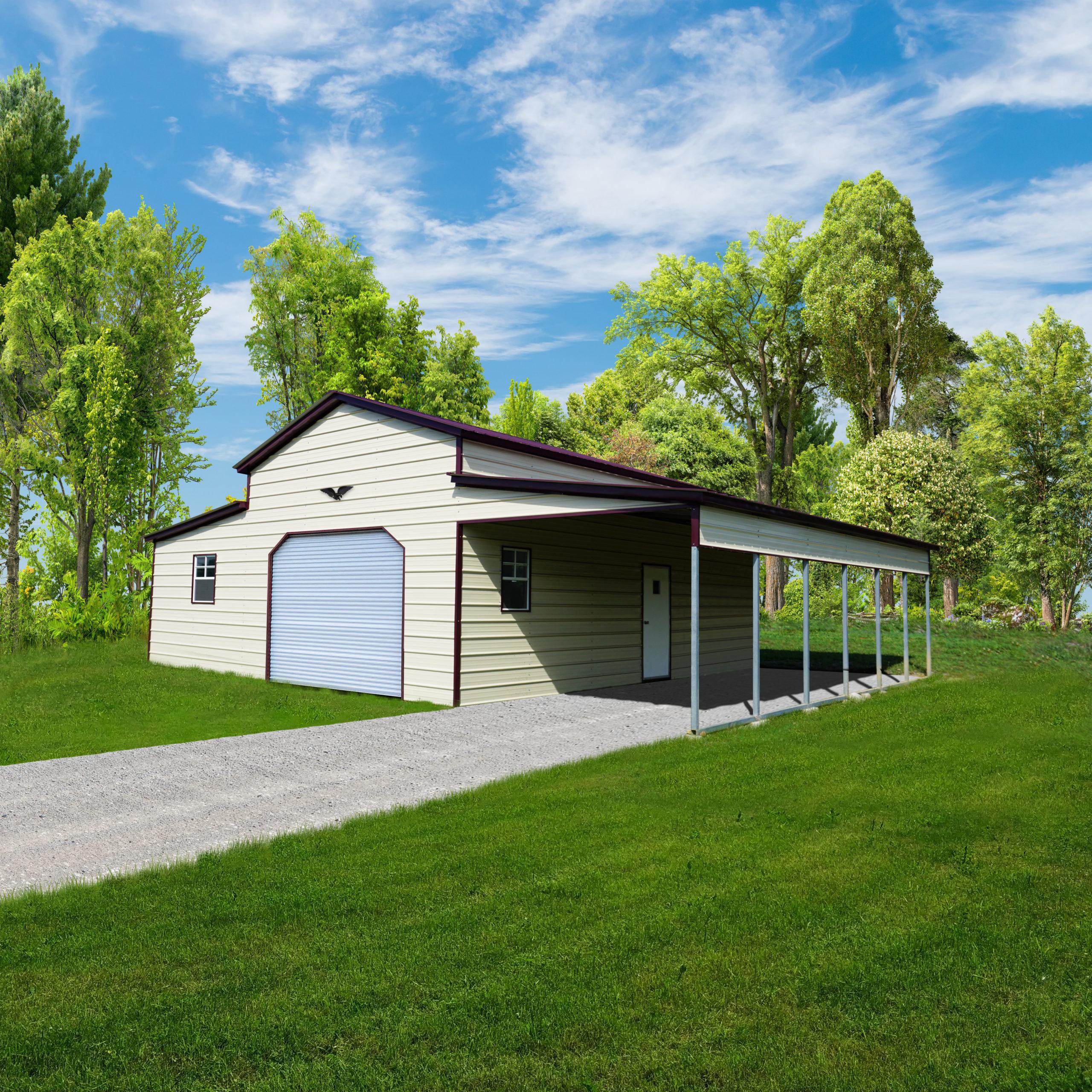 Metal Vertical Enclosed Horse Barn  32 x 31 x 12 x 8